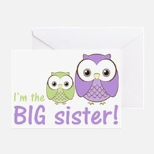 owlbigsispurplegreen Greeting Card