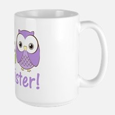 owlbigsispurplegreen Large Mug