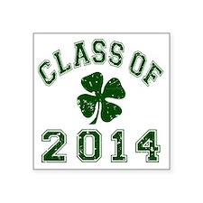 "Class Of 2014 - Shamrock DK Square Sticker 3"" x 3"""