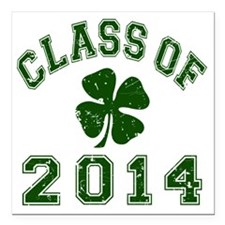 """Class Of 2014 - Shamrock Square Car Magnet 3"""" x 3"""""""