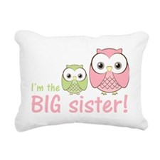owlbigsispinkgreen Rectangular Canvas Pillow