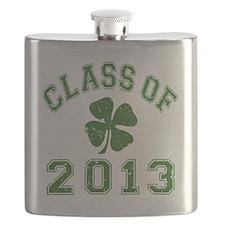 Class Of 2013 - Shamrock Green 2 D Flask