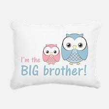 owlbigbrobluepink Rectangular Canvas Pillow