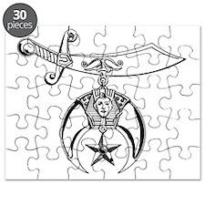 Shriner Black and White Puzzle