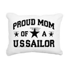 proud navy mom new desig Rectangular Canvas Pillow