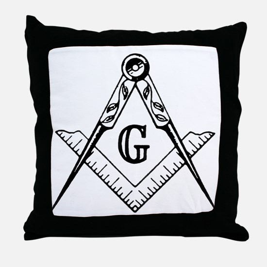 Square and Compasses Throw Pillow