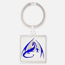 blue dragon Square Keychain
