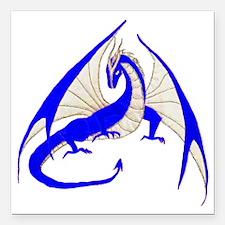 "blue dragon Square Car Magnet 3"" x 3"""