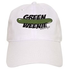 White Green Weenie Baseball Cap