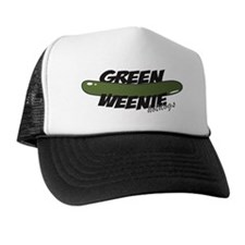 White Green Weenie Trucker Hat