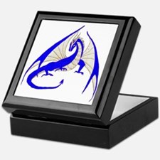 blue dragon Keepsake Box