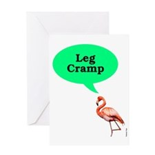 Flamingo_-Leg_Cramp Greeting Card