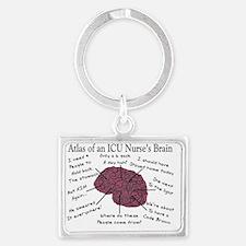ATlas of an ICU Nurse Brain Landscape Keychain