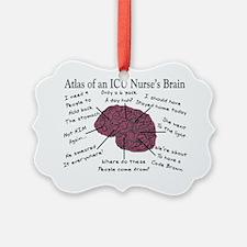 ATlas of an ICU Nurse Brain Ornament