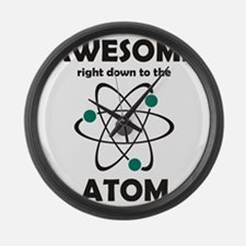 atomsawesome2 Large Wall Clock