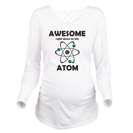 atomsawesome2 Long Sleeve Maternity T-Shirt