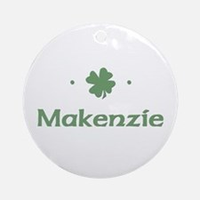 """Shamrock - Makenzie"" Ornament (Round)"