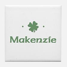 """Shamrock - Makenzie"" Tile Coaster"