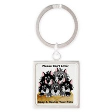 5 dont litter 2-001 Square Keychain