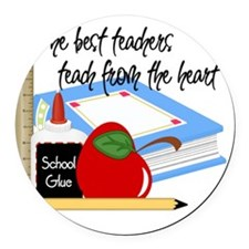 5 teach from heart-001 Round Car Magnet