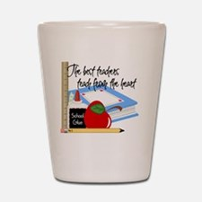 5 teach from heart-001 Shot Glass