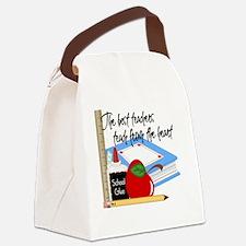 5 teach from heart-001 Canvas Lunch Bag