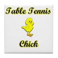 Table Tennis  Chick Tile Coaster