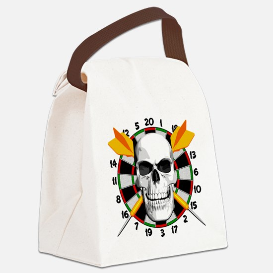 Darts_skull Canvas Lunch Bag