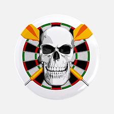 """Darts_skull_blk 3.5"""" Button"""