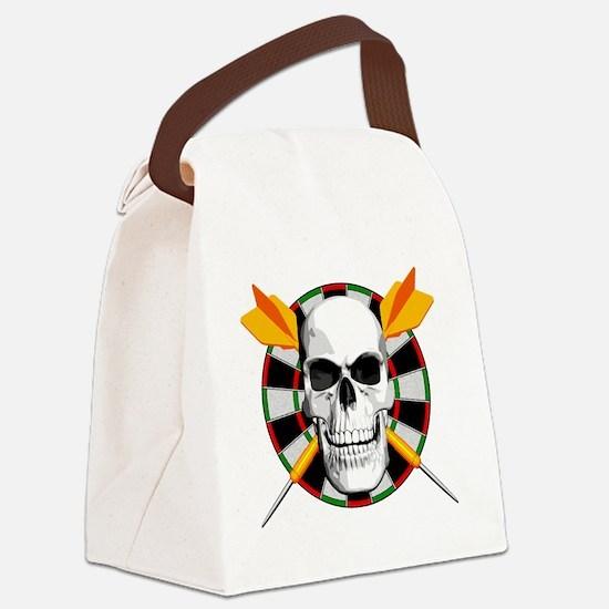 Darts_skull_blk Canvas Lunch Bag