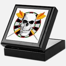 Darts_skull_blk Keepsake Box