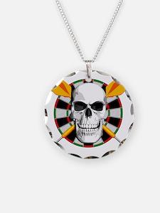 Darts_skull_blk Necklace