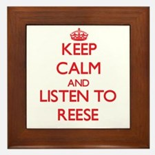 Keep Calm and listen to Reese Framed Tile