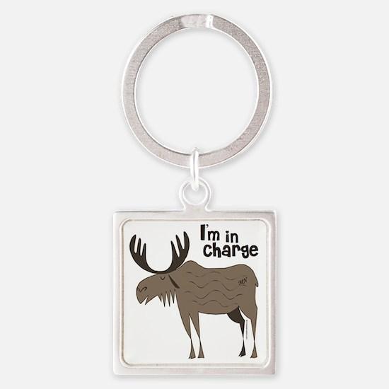 new big moose Square Keychain