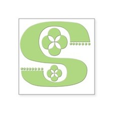 "S - (KELLTIKA FONT) Square Sticker 3"" x 3"""