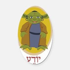 yoda13_small Oval Car Magnet