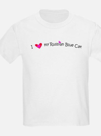 Russian Blue - MyPetDoodles.com Kids T-Shirt