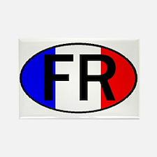 FRANCE OVAL II Rectangle Magnet