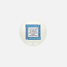 Blue Geocacher Lost Mind Mini Button (100 pack)