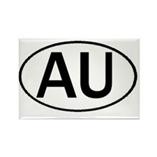 AU OVAL III Rectangle Magnet