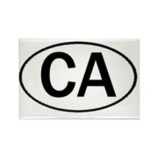 CA OVAL III Rectangle Magnet