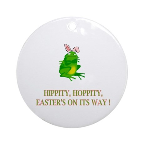 The Easter Frog Ornament (Round)