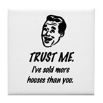 Trust Me Male Tile Coaster