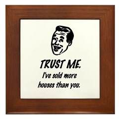 Trust Me Male Framed Tile