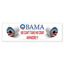 Obama Crap Mug Bumper Sticker