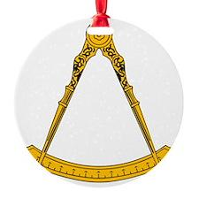 Golden Square and Compasses Ornament