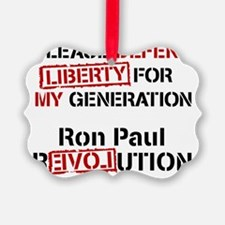 Ron Paul Baby white Ornament