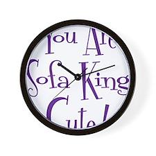 purple, Sofa King Cute Wall Clock