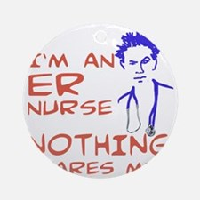 er-nurse Round Ornament