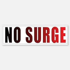 No Troop Surge Bumper Bumper Bumper Sticker